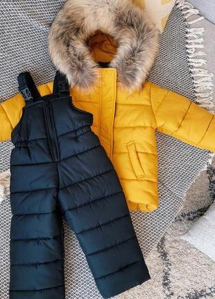 Зимний детский полукомбинезон (без куртки) на флисе