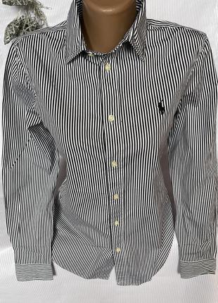 Брендовая рубашка в полоску