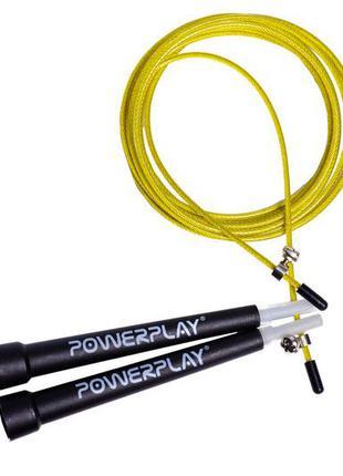 Скакалка швидкісна powerplay 4202 жовта