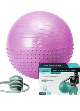 М'яч для фітнесу powerplay 4003 75см бузковий