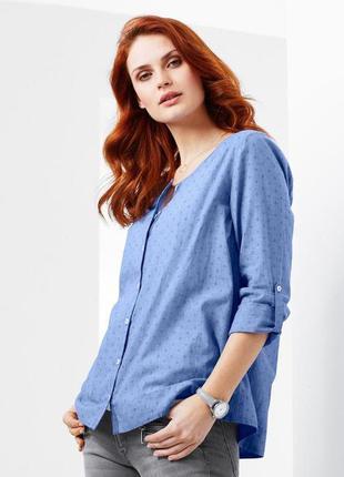 Повседневная элегантность  нежная блуза шамбре из био-хлопка tchibo германия