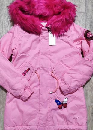Куртка парка для девочки h. times р.146,170. еврозима.