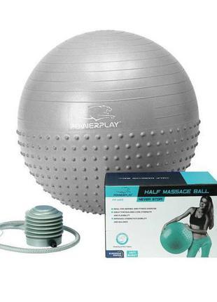 М'яч для фитнесу powerplay 4003 65см сірий