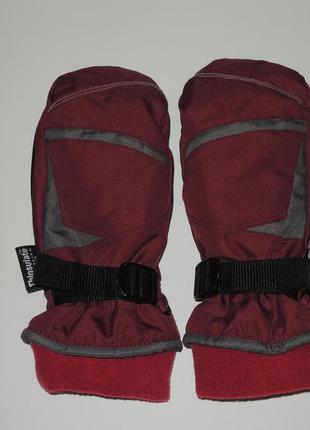 Теплые лыжные рукавицы варежки hipoka thinsulate р.134-152