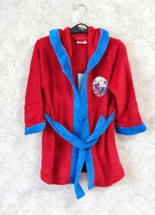 Плюшевый халат дисней на мальчика 5-6 лет