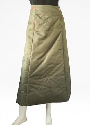 Красивейшая длинная теплая юбка-дутик с наполнителем бренда kay double u