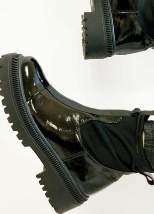Шикарные ботиночки,лак, модель 💣 турция.