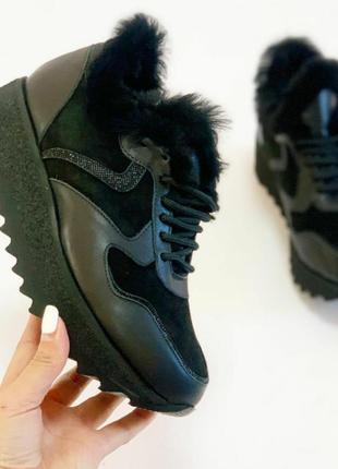 Зимние кроссовки на цигейке, шикарная модель 💥.