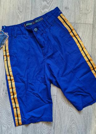Подростковые котоновые бриджи шорты  для мальчика  тм nature 10-14 л