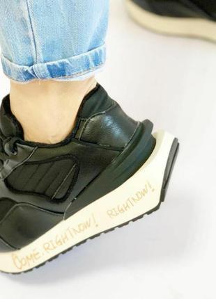 Кожаные кроссовки, эксклюзивная модель.