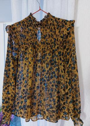 Леопардовая блуза от m&s