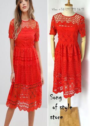 Boohoo для asos кружевное приталенное платье