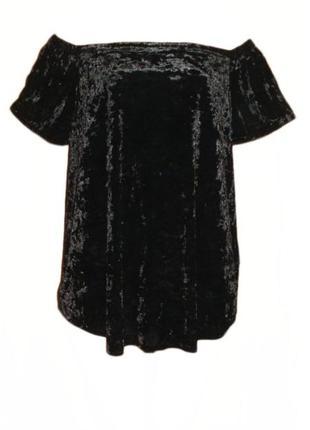 Бархатная велюровая блуза кофточка для беременных new look maternity с открытыми плечами