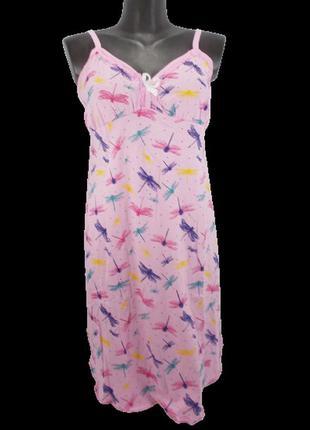 Ночная рубашка на бретелях al-aziz 10-2 50-52 розовая