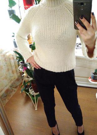 Вязанный свитер кофта гольф