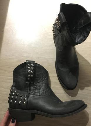 Ковбойские ботинки казаки ash кожа новые!