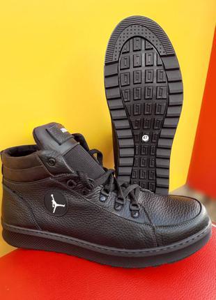 Ботинки кожаные на муху большого размера кожа