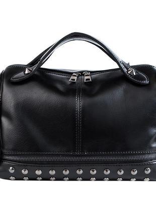 Стильна жіноча сумка sophie black . чорна. довга та коротка ручки.