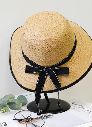 Стильная женская летняя пляжная шляпа коричневого цвета