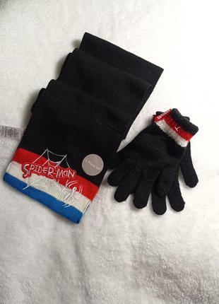 Шарф и перчатки marvel / рукавиці та шарфик