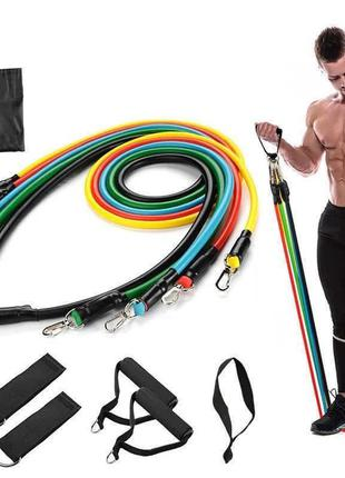 Набор резинок-эспандеров для фитнеса power resistance bands jt-003