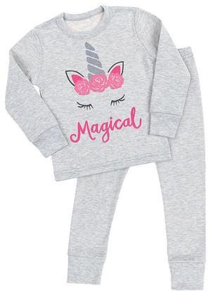 Теплая пижама  для девачки 92-128