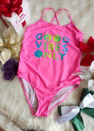 Яскравий рожевий купальник для дівчинки 10-11 рочків primark