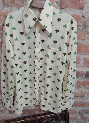 Винтажная рубашка трикотаж huber