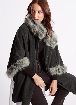 Пончо накидка плащ пальто marks&spenser oversize (один размер)
