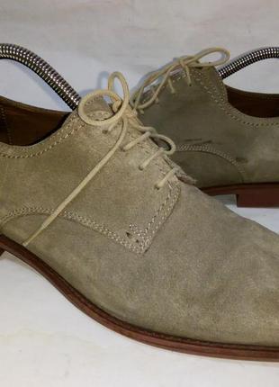 - фирменные замшевые туфли - roberto santi - 42-
