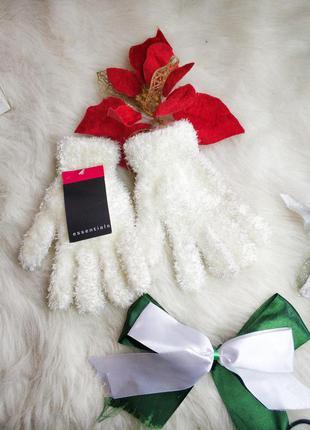 Нові мякенькі плюшеві рукавички