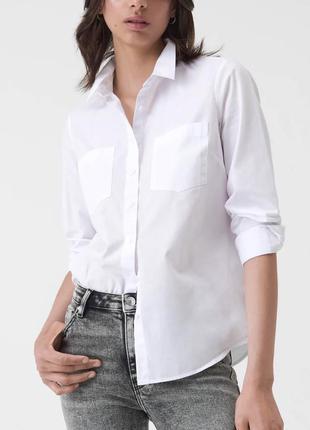 Рубашка базовая белая s m l