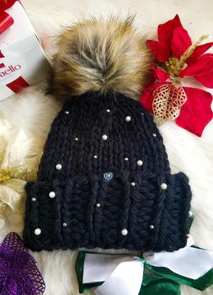 Нова тепла вязана шапка tally weijl