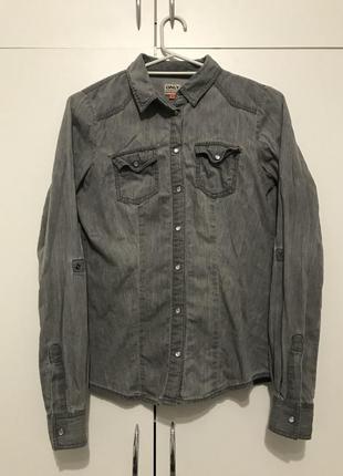 Стильная рубашка под джинс, 100% хлопок