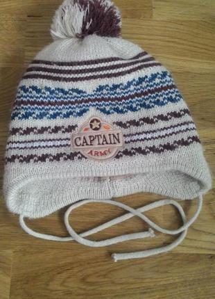 Тепла зимова шапка на вік 8-10 років