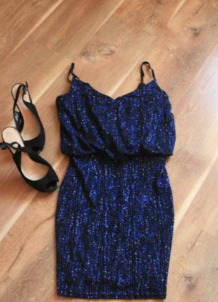 Нарядное вечернее платье в пайетки стразы на день валентина