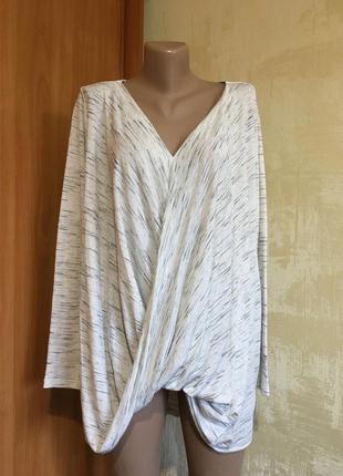 Трикотажная меланжевая блуза.р.16-20