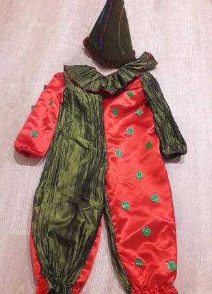 """Новогодний костюм """"клоуна""""р.110"""