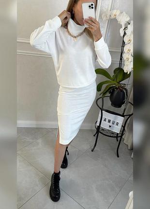 Костюм, женский костюм,юбка и свитер