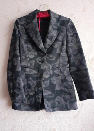 Шикарный шерстяной  жакет /пиджак/блейзер от karen millen