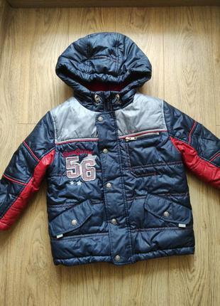 Детская зимняя куртка на флисе