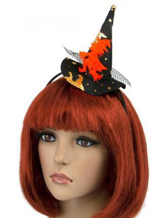 Шляпка ведьмочка  на ободке