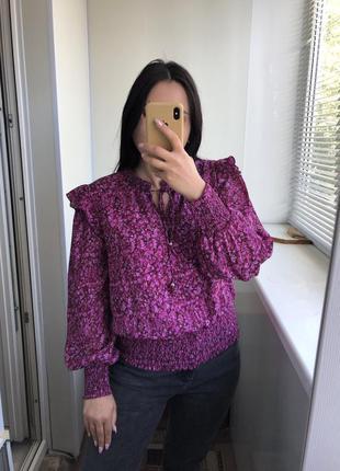 Шикарная блузка блуза рубашка яркая нарядная