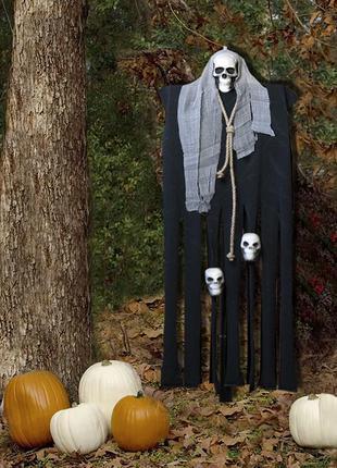 Декор на хэллоуин подвесной мрачный жнец призрак 95см +подарок
