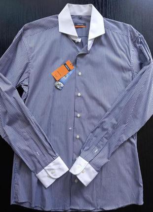 Рубашка с длинным рукавом мужская eterna размер ворота 42