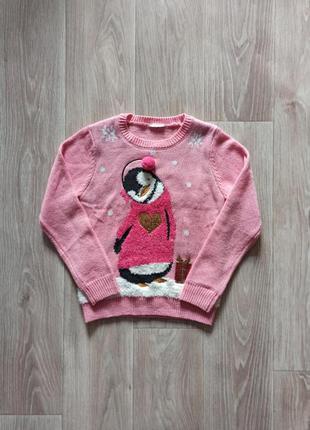 Новогодний свитр, кофта, новорічний принт, светр
