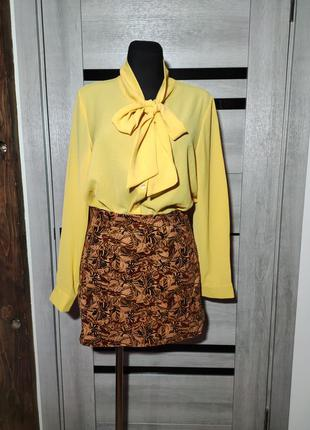 Тренд блуза з бантом only сорочка рубашка жабо бант рюша 70х