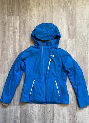 Осенняя куртка the north face, оригинал, размер l, синяя, фирменная, женская, горнолыжная, спортивная, треккинговая, легкая