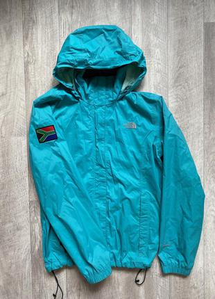 Ветровка the north face, оригинал, размер м, куртка, осенняя, легкая, спортивная, женская, треккинговая, спортивная, осенняя куртка, бирюзовая