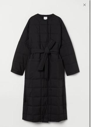 Стеганое пальто h&m